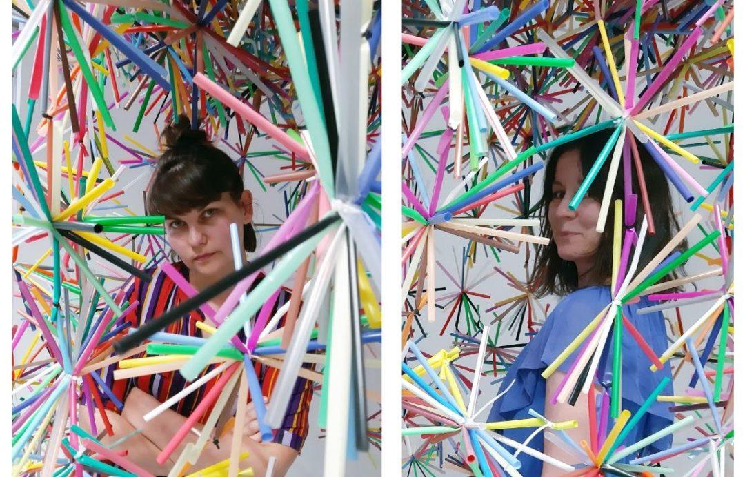 Karina Królak (z prawej) i Patka Smirnow od lat promują filozofię zero waste poprzez sztukę (Fot. archiwum prywatne)